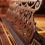 1896 Bechstein - desk detail