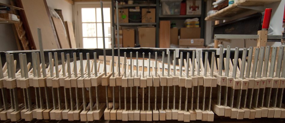 Many clamps…